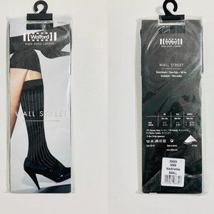 NEW Wolford Wall Street Knee Highs Black/White